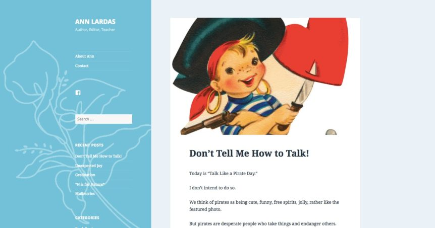 writer website blog design