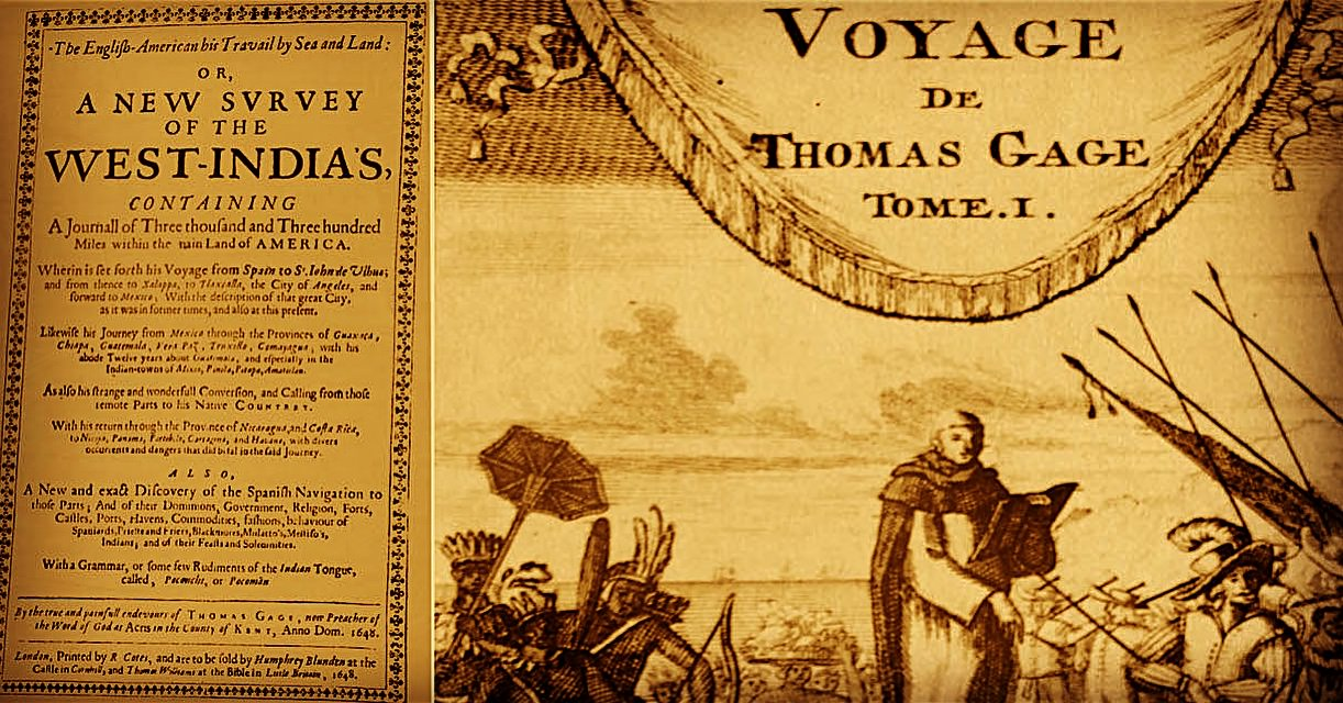 1600s infographic book by priest thomas gage