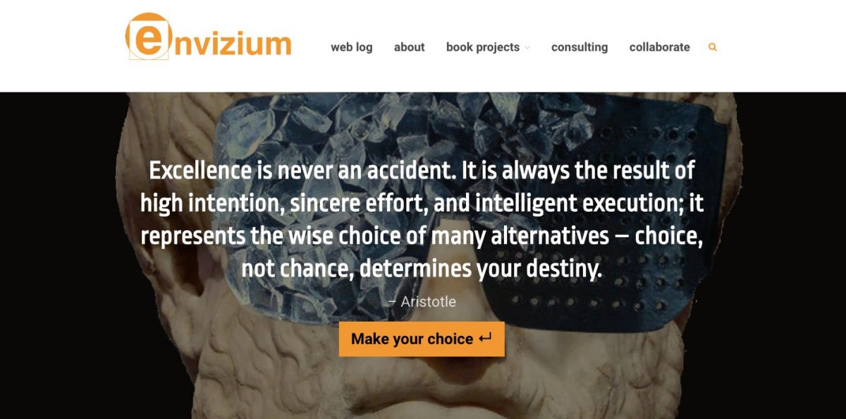 web design branding project for envizium technology consulting
